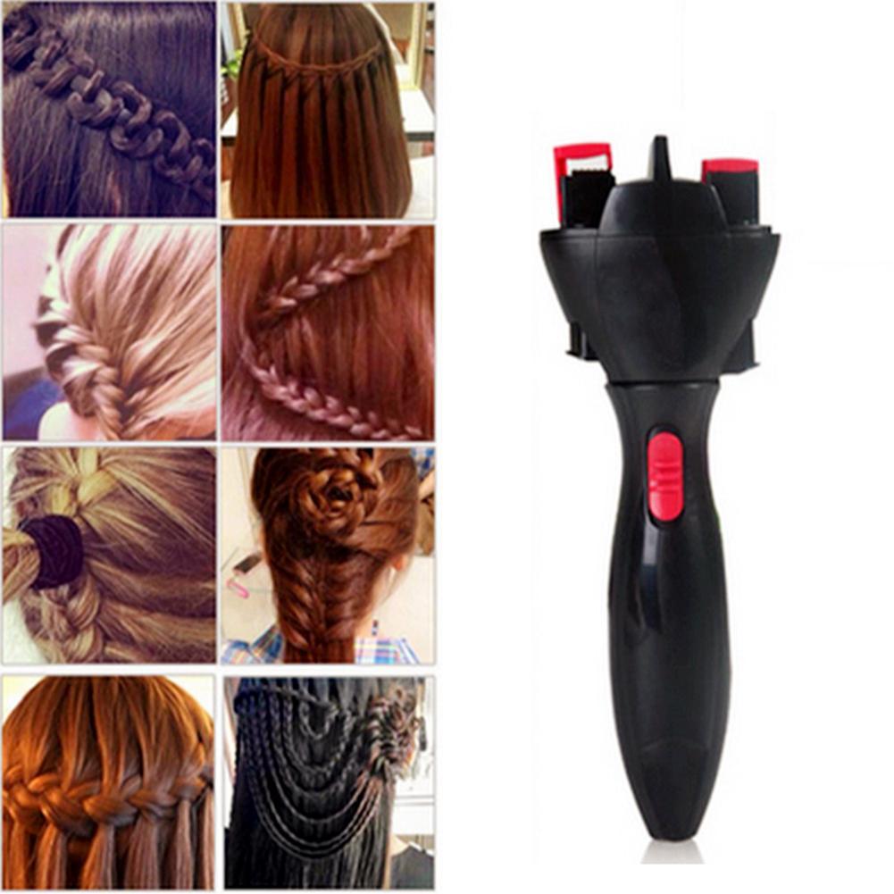 Outil de coiffure dispositif automatique tricoté outil de coiffure bricolage électrique deux brins torsion tresse fabricant cheveux Braider