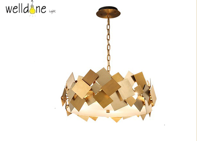 Modern Gold Stainless Steel Pendant Light Luxury Living Room Dinning Room Lustre Pendente American Creative Simple  sc 1 st  AliExpress.com & Modern Gold Stainless Steel Pendant Light Luxury Living Room Dinning ...