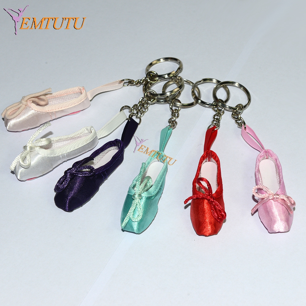 Keychain Dance-Shoes Ballet-Accessory Satin Pink Mini Key-Ring Pointe