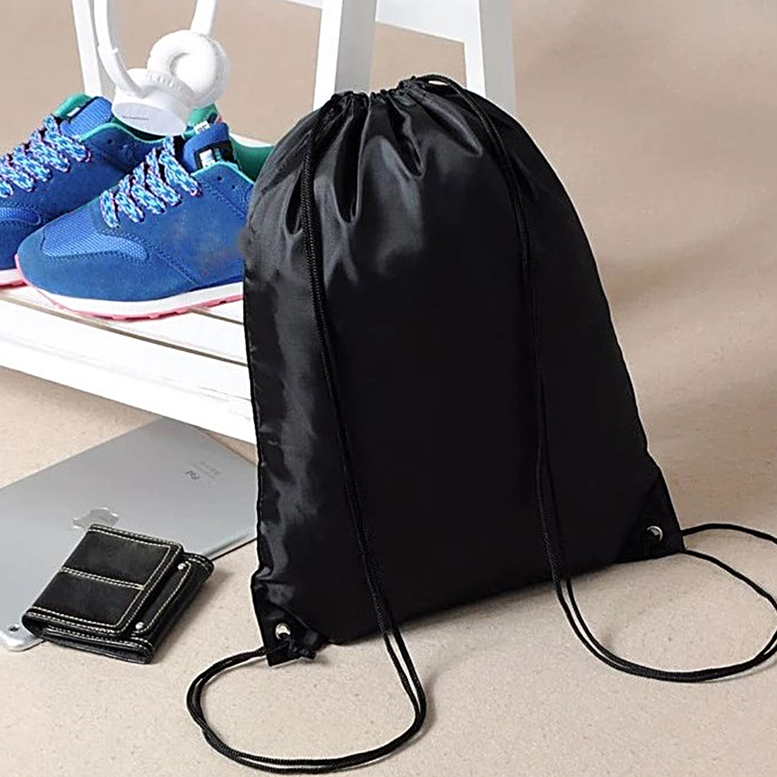 Hot Black Green Waterproof Swimming Backpack Double Layer Drawstring Sport Bag Shoulder Bag Water Sports Travel Portable Bag