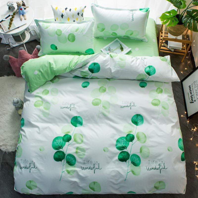 Winter desig Bedding Set Striped lattice quilt cover Duvet Cover flat Sheet pillowcase 3/4 pcs Home bedding Queen Full Twin Size