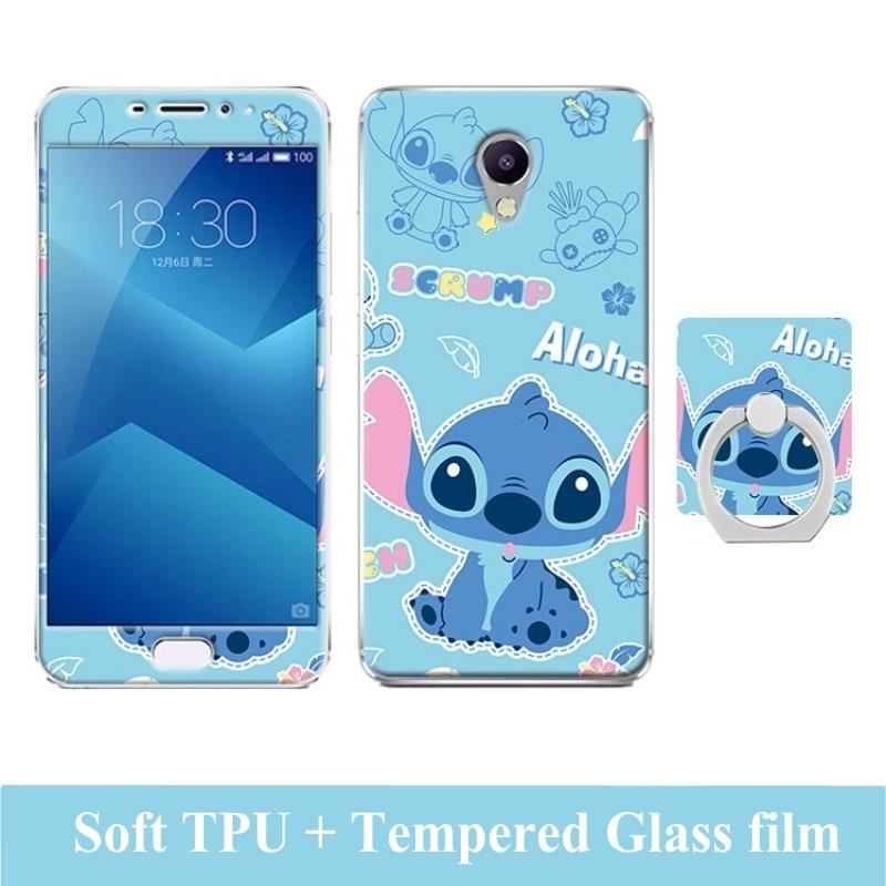Estuche de dibujos animados 3D para Meizu M5 Note Película de vidrio - Accesorios y repuestos para celulares - foto 3