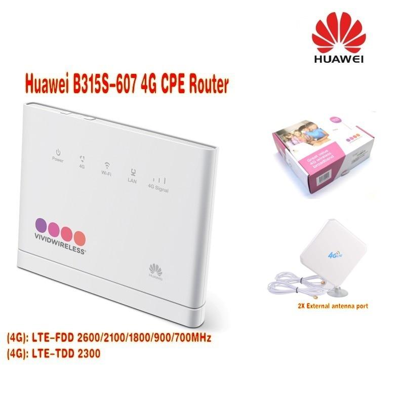 (+ 4g Antenne) Huawei Lte Cpe B315s-607 4g Router (eu 2pin) 100% Garantie