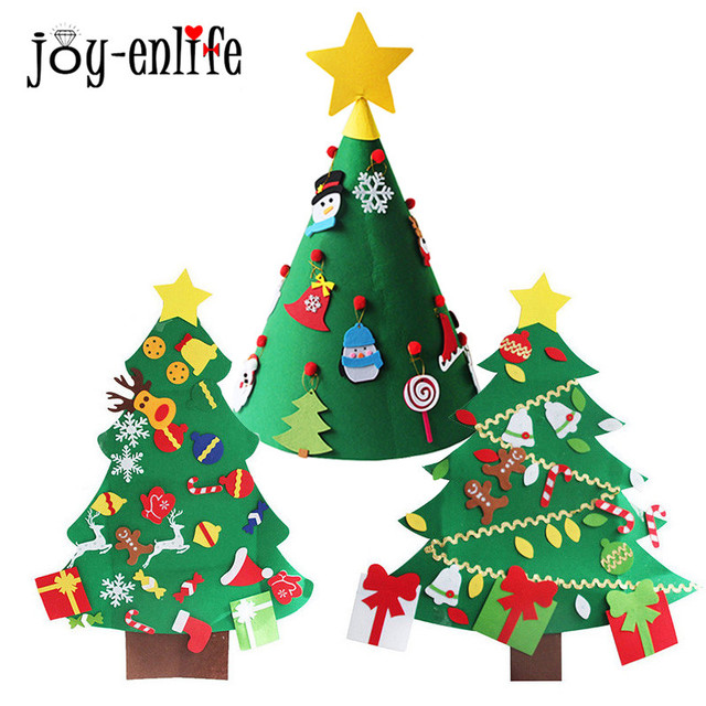 christmas gift felt christmas tree christmas with lovely ornaments door wall hanging christmas gifts for 2018