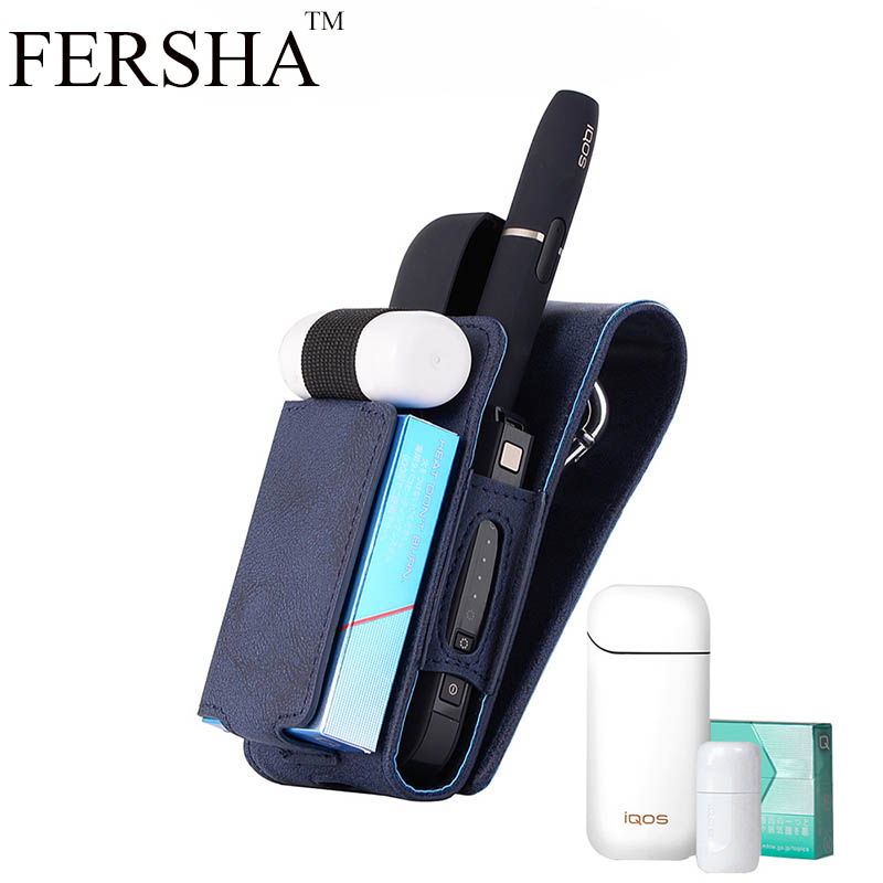 все цены на FERSHA electronic smoke protection cover for Japanese IQOS II generation compact comfort storage cigarette case holster
