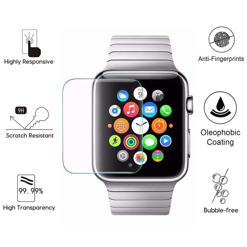 Protective Film For i Watch 4 2 3 1 38mm 42mm 40mm 44mm 38 40 42 44 Screen Protector On The Soft Edge Full Cover Case(Not Glass)