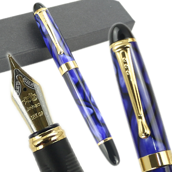 Jinhao X450 18 KGP 0.5mm Broad NIB Foutain Pen Writing Office School Supplies St