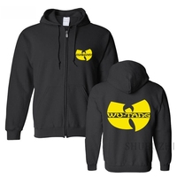 Wu Tang Clan HIP HOP Fashion Skateboard Hip Hop Full Zip Male Man Men Cotton Full