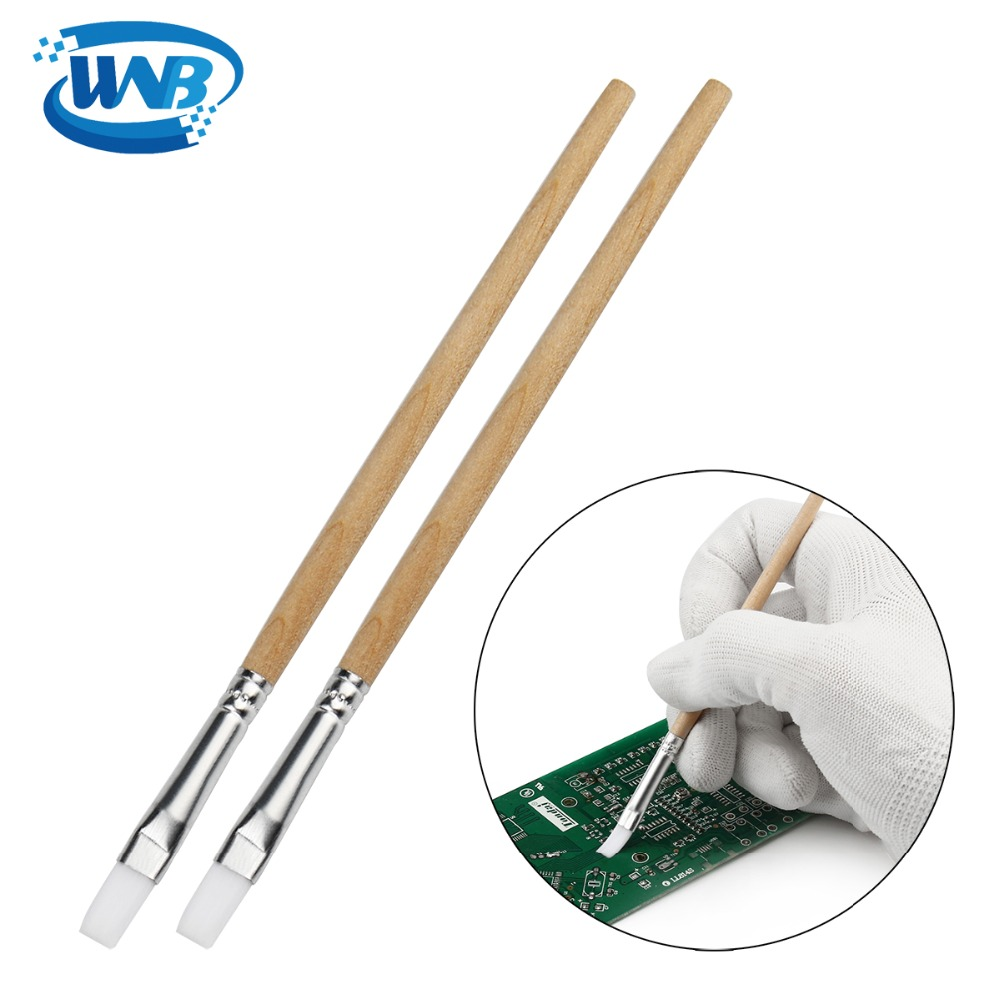 WNB 100pcs 130mm Tablet PCB Cleaning Repair Tools Soft Nylon Brush Dust Cleaner Computer Keyboard Cell Phone Paint Brush Kits
