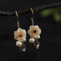 New original natural pearl resin crystal fashion designer earrings ears hang jewelry wholesale and mixed batch