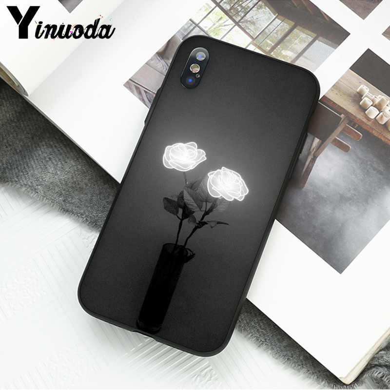 Yinuoda เรืองแสง rose ในที่สวยงามโทรศัพท์อุปกรณ์เสริมสำหรับ iphone ของ Apple iphone 8 7 6 6S Plus X XS MAX 5 5S SE XR มือถือ
