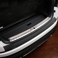 Car Styling Accessories Inner Outer Rear Bumper Protector Guard Plate Cover Trim For Skoda Kodiaq 2017
