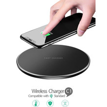 Qi Wireless Charger Pengisian Pad 10W Cepat Charger untuk iPhone 8 Plus X XS Max XR Samsung Galaxy S10 s10e S9 S8 Catatan 9 8 Xiaomi(China)