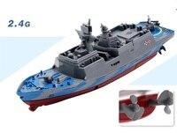 2.4 그램 4 채널 미니 RC 보트 미니 군함 원격 제어 도전자 고속 미니 RC 선박