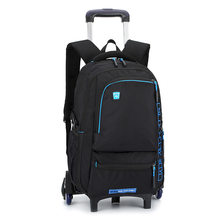 Removable Trolley school Backpack Wheeled Bags Children School Bag Boys girls Travel Bags Child School Backpacks kids schoolbags(China)