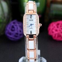 Small Diamond Watch Three-dimensional Ceramic Steel Belt Quartz Watch Rectangular Ladies Watch Women Watches 3Bar все цены