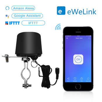 цена на Wifi smart water valve smart home automation system valve gas water control 12v 1A cooperation with Ewelink application
