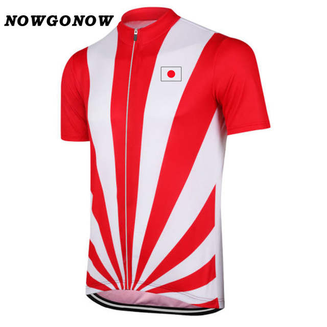 Online Shop Men 2018 red Cycling Jersey Japan flag national team leader  tour Clothing Bike Wear road Maillot Ropa Ciclismo brand NOWGONOW  20bff74d3