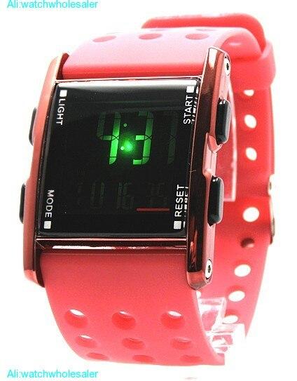 DW330A красный корпус часов Хронограф Дата BackLight красный ободок для мальчиков и девочек цифровые часы