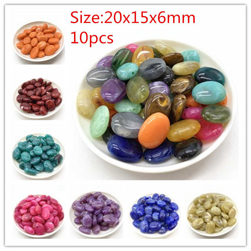 New 10pcs of Acrylic Beads Earrings Necklace Accessories Beads For Jewelry Making DIY Jewelry Findings