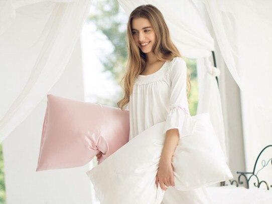1 pz caso cuscino di raso di seta