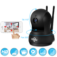 FREE SHIPPING IP Camera WiFi Wireless Network HD TF Card Record Network Security CCTV Night Vision