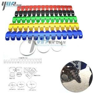 Image 4 - Yuanqian 범용 오토바이 배기 머플러 파이프 다리 보호대 열 방패 커버 bmw f650gs f800gs g650gs g65 r6 r3 r6