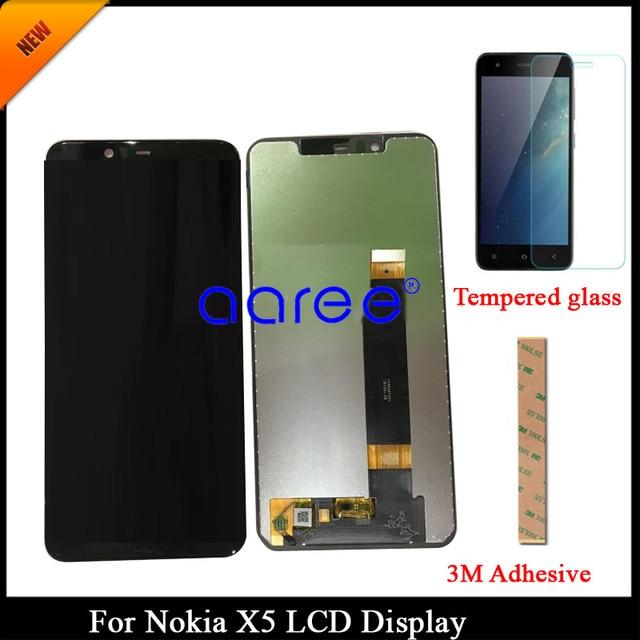 100% נבדק כיתה AAA LCD תצוגה עבור Nokia X5 חלפים עבור Nokia X5 תצוגת LCD מסך מגע Digitizer עצרת