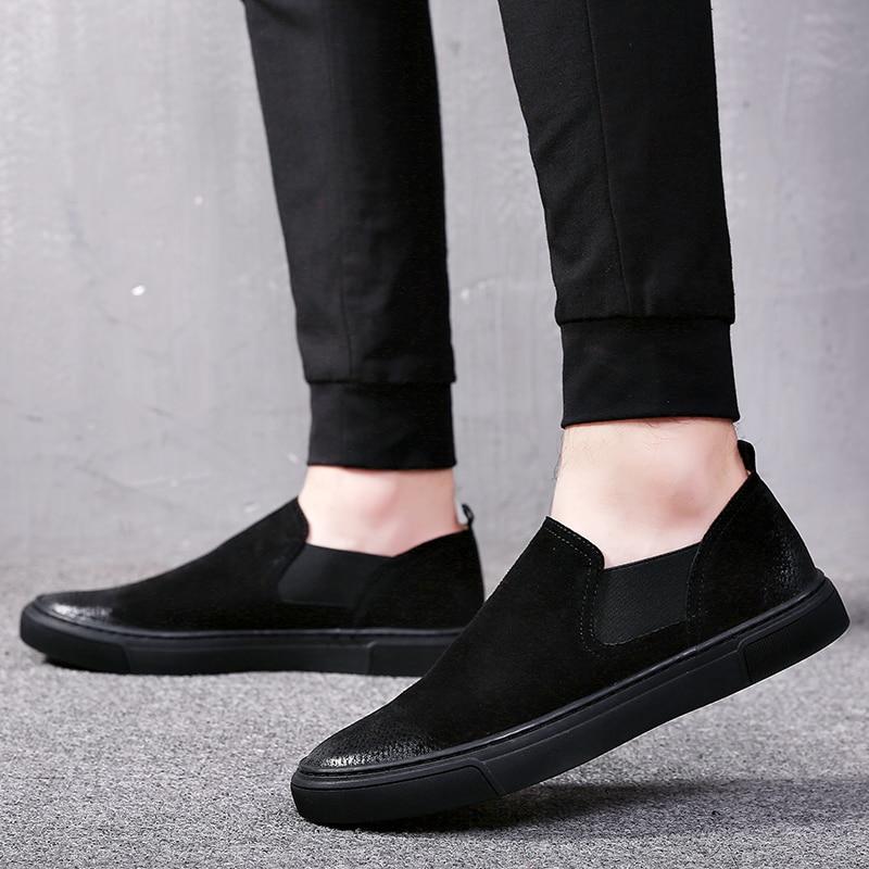 Noir Toile Marque Les Pour Chaussures Tous Nouvelle Casual Hommes En Cuir Arrivée De Mode Heinrich aqBSx