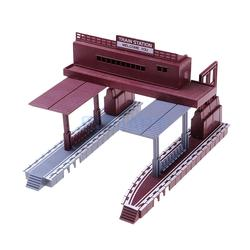 Magideal Plastic 1:87 Trein Station Architectonisch Model Building Kit Spoorweg Spoorweg Dioramas Layout Landschap