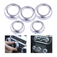 DWCX 5pcs Silver Chrome Dashboard Console Switch Button Ring Cover Trim Fit For Land Rover Discovery