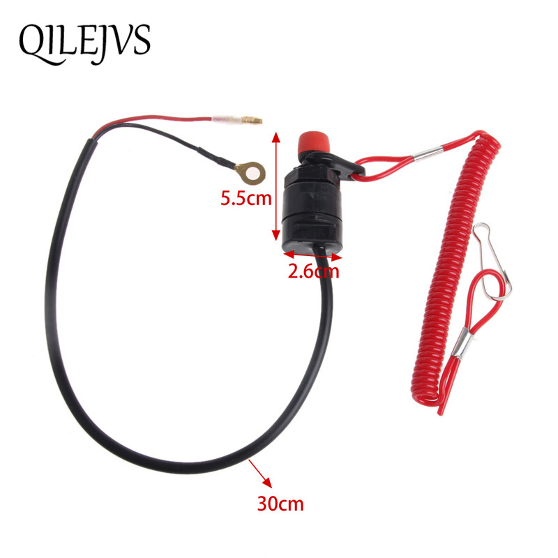 Safety Tether Lanyard Motorcycle Universal Boat Outboard Motor Kill Stop Switch