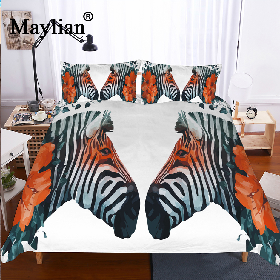 17 colors zebra Wolf eagle Bedding Set Mandala Quilt Cover Bed Set Bohemian Mini Van Bedclothes 2/3pcs BE1193
