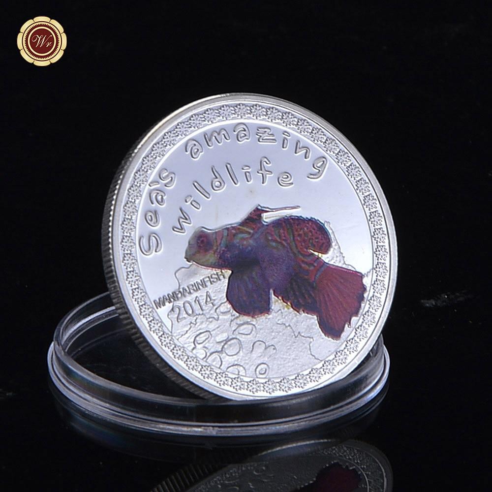 0bca8bc55b32 Moneda de plata réplica mandarinfish animal moneda 5000 francs Troy oz. 999  fina