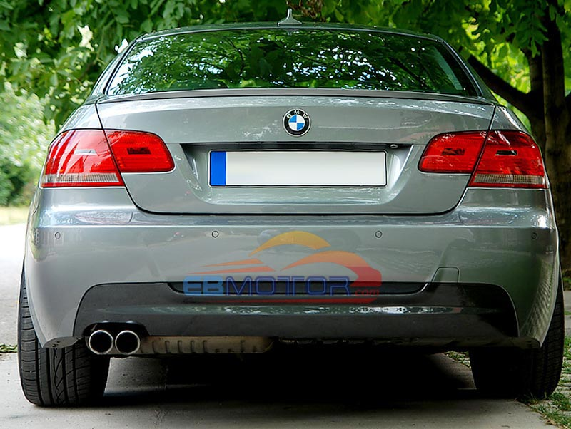 Carbon Fiber Single Side DUAL Exhaust Rear Diffuser For BMW 3 Series E92 Coupe 328