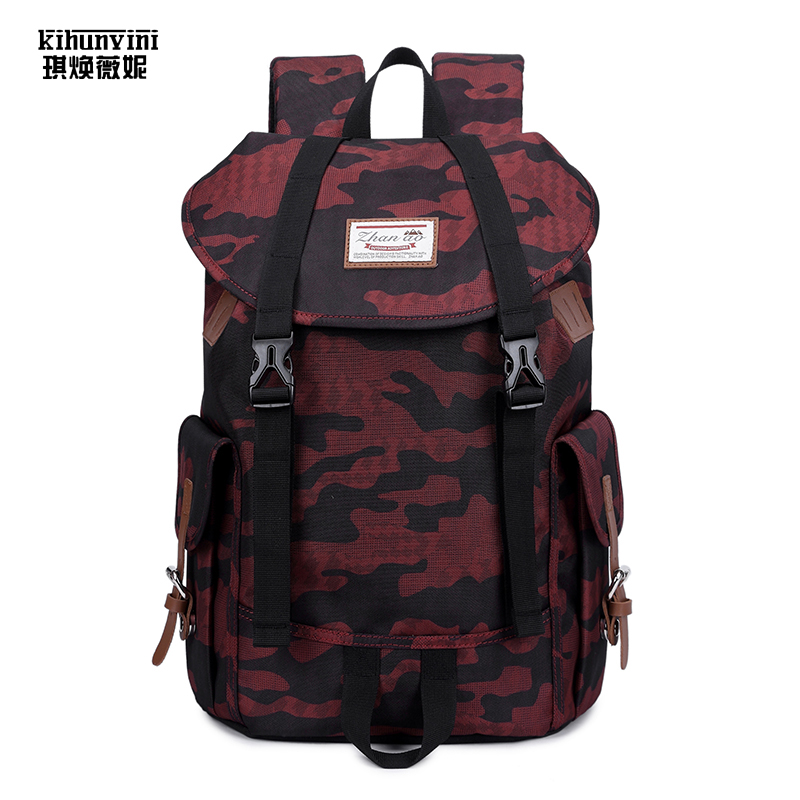 Unisex Big Backpack Camoflage Fashion Cool Mens Backpacks High Quality Oxford Fabric Women Back Pack Lovers Gift Shoulders Bag