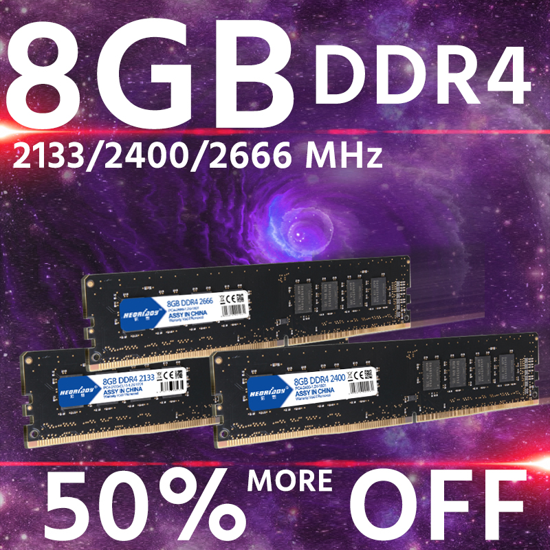 Ddr 4 8 gb ram 2133 mhz 2400 mhz 2666 mhz ordinateur mémoire dimm motheroard ddr4