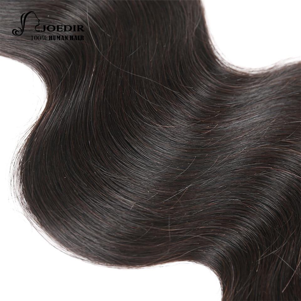 Joedir 100% Human Hair Weave Bundles Brazilian Body Wave 4 Bundles Deal Natural Black Non-Remy Hair Extention Free Shipping