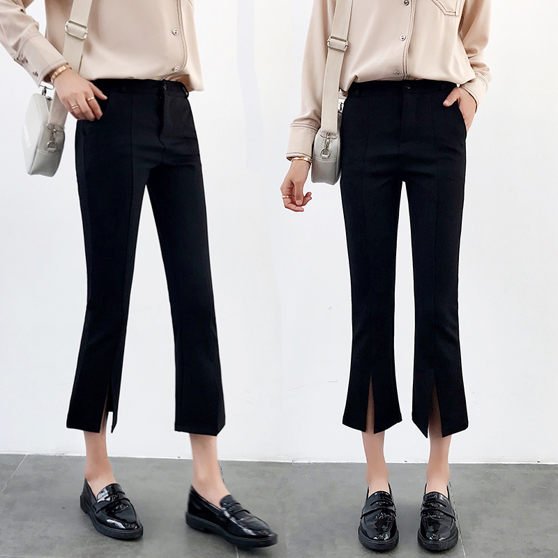 High-waisted Flare Pants Women 2018 Summer New Hot Fashion Female Casual Loose Ankle-length Pants Trousers Bottoms 1
