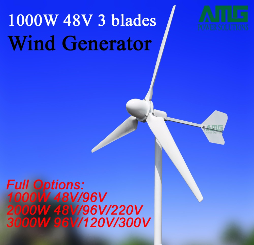 1KW/1000W 1000watt 48V 3 blades Horizontal Windmill Generator for Off Grid Wind Generator Kit 2piece 100% new it8573e qfp 128 chipset
