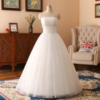 W. JOLI Najnowsze Długie Suknie Ślubne Luksusowe Kryształowe Diamentowe Frezowanie Suknia Balowa Lace Up Bez Ramiączek Elegancka Suknia Ślubna