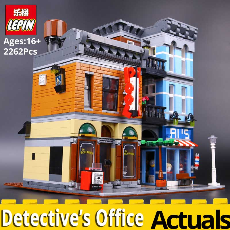 цена на Lepin building bricks 15011 Detective Office compatible with legoings 10246 Creator City Street toys for children christmas gift
