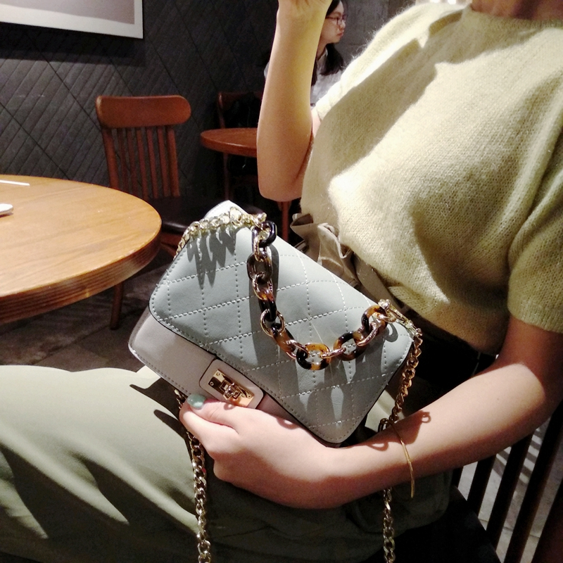 Cuir Mode blue Lingge Color Encens Chaîne Black silver Incision matcha Green pumpkin De White Femmes Vent With Petit Sac En Petite Stn5xZHWqw