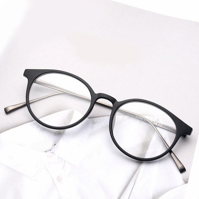 Optical Óculos de Armação Redonda de Metal do vintage Para As Mulheres Óculos de Lente Clara Óculos Óculos UNISEX Gafas Óculos OURO NEGRO