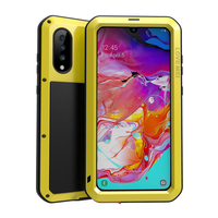 A70 LOVE MEI Heavy Duty Powerful Cover Casing For Samsung Galaxy A70 Case A705FN Mobile phone cases with Tempered glass
