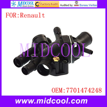 New Auto Engine Coolant Thermostat Housing Assenbly use OE NO. 7701474248 / 7701 474 248 for Renault
