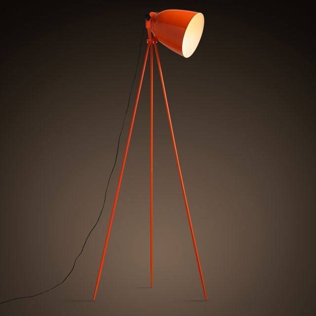 Nordic design orange floor lamps tripod tricycle work office floor nordic design orange floor lamps tripod tricycle work office floor lamp bedroom living room desk lamp aloadofball Images