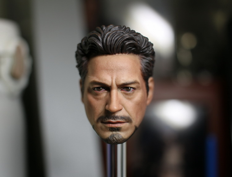 1/6 scale Doll head Male DIY Accessories 12 Action figure doll Head Sculpt . Iron Man tony head 3.0