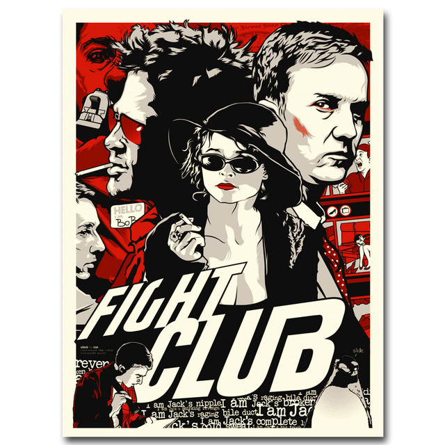 Fight Club Motivational Quotes Movie Art Silk Poster Print 13x20 24x36 inches