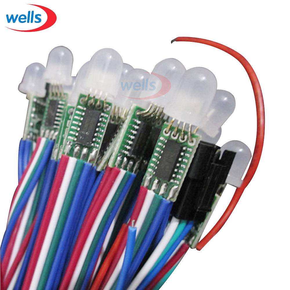100pcs Fast Shipping 12mm Ws2801 Pixel Node Module String The Led Strips In My Device Use Controller Uses A Addressable Color Dc5v Non Waterproof